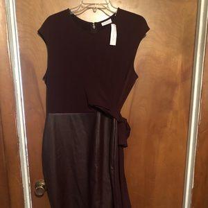 Maroon leather skirt Dress